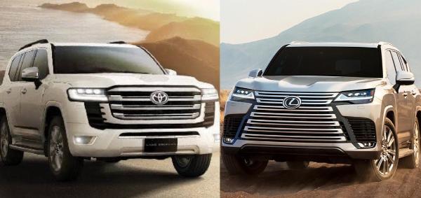 Which Is Your Favorite? 2022 Toyota Land Cruiser LC 300 Series Versus 2022 Lexus LX 600 - autojosh