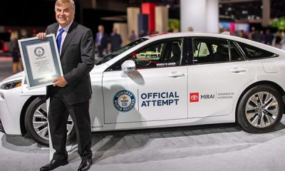 Hydrogen-Powered Toyota Mirai Drove 845-Mile Without Refueling, Sets Guinness World Record - autojosh