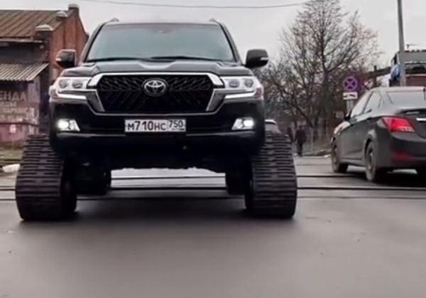 This Toyota Land Cruiser With Rubber Track Is A Head-turner - autojosh