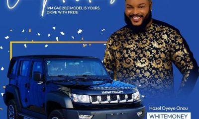 Whitemoney Wins BBNaija S6, Goes Home With Innoson IVM G40 SUV, Other Prices, Worth ₦90m - autojosh