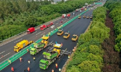 Watch : World's Largest Unmanned Construction Vehicles Completes Road Project On China's Busiest Highway - autojosh